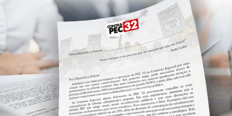 <center>Não à Reforma Administrativa: Carta aos Deputados Federais